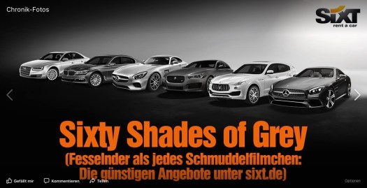 Marketing und PR von Sixt, rent a car