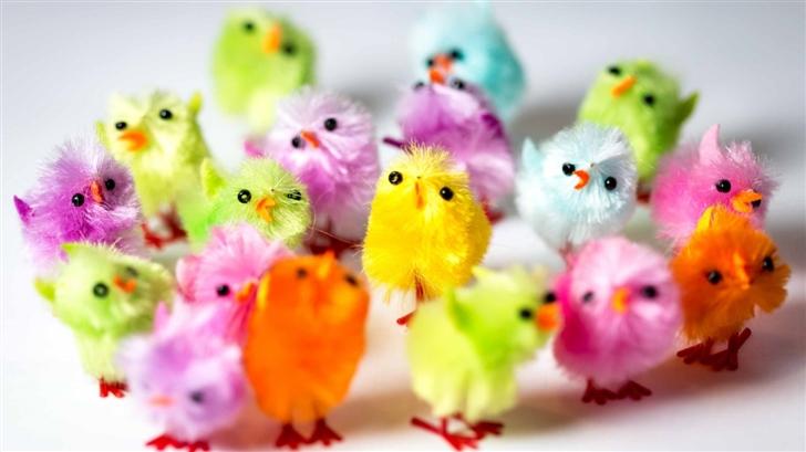 Iphone X Wallpaper Super Retina Colorful Easter Chicks Mac Wallpaper Download Free Mac