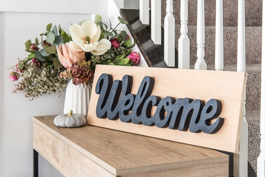 Wood signs have always been a simple way to bring the rustic charm into your home. There are plenty for sale in home decor stores, but making them yourself gives you a total freedom over their look and the message they will carry.