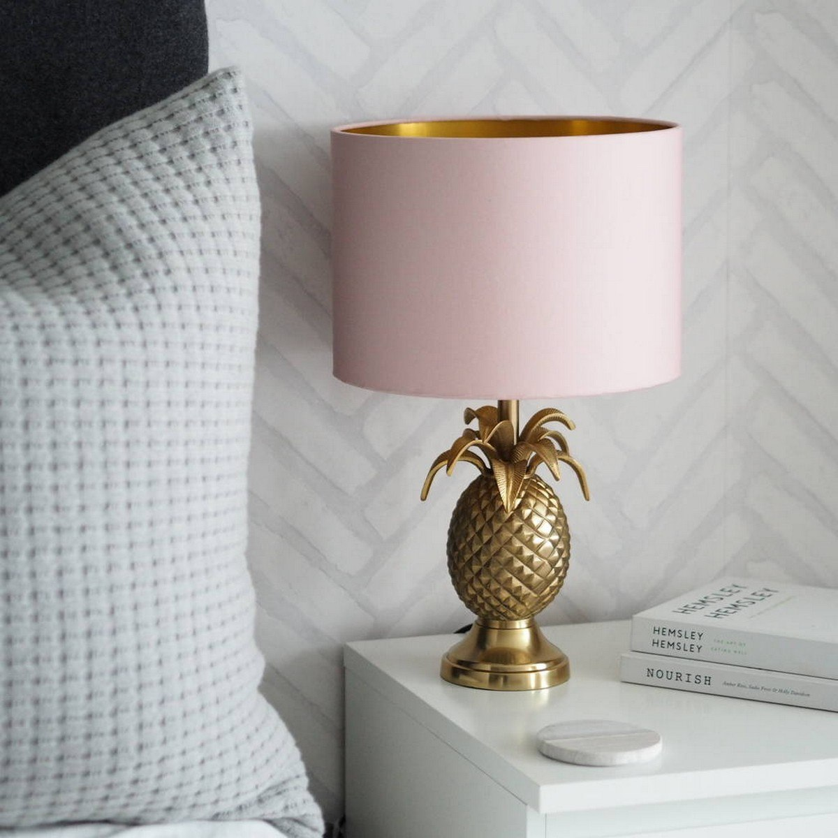 Blush & Brass Desk Lamp