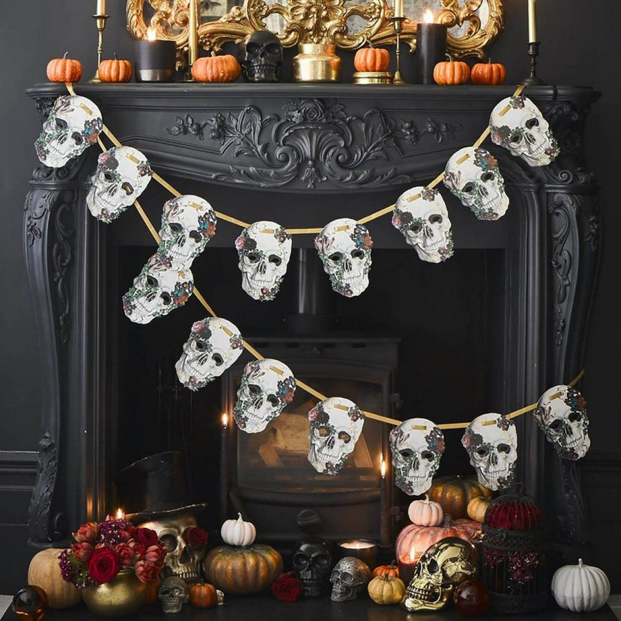 Skulls are totally traditional for Halloween and can be seen everywhere before, during and after it, plus many of use go for such decor in other time, too.