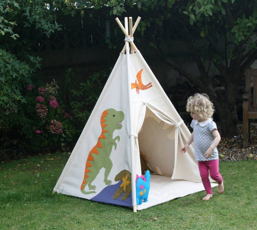 When it comes to designing the perfect playhouse, skip the mini wooden cottages and try out a teepee.