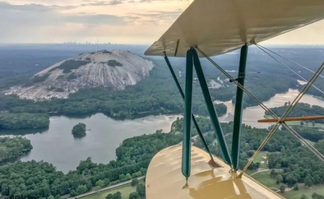 Biplane Ride Atlanta Downtown And Stone Mountain Tour