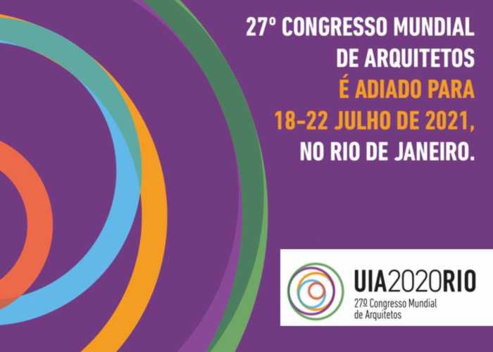 UIA 2020 RIO é adiado