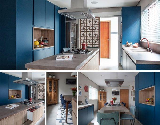 Cozinha azul de Pati Cillo