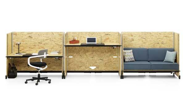 Vitra apresenta mesa de escritório que vira sofá