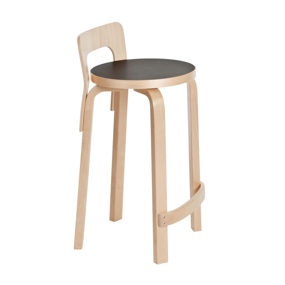 nice chair stool bar seat covers artek products high k65 black linoleum