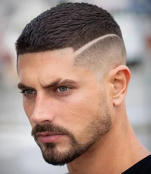 Butch Cut with Hard Line Disconnection