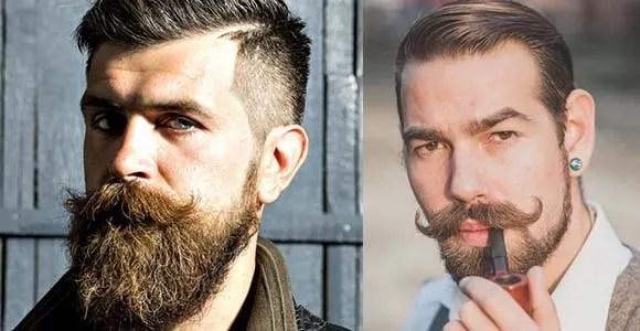 handlebar mustache with beard