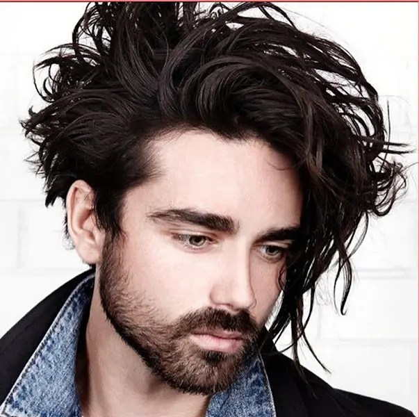 Long Wavy Hair + Messy Look