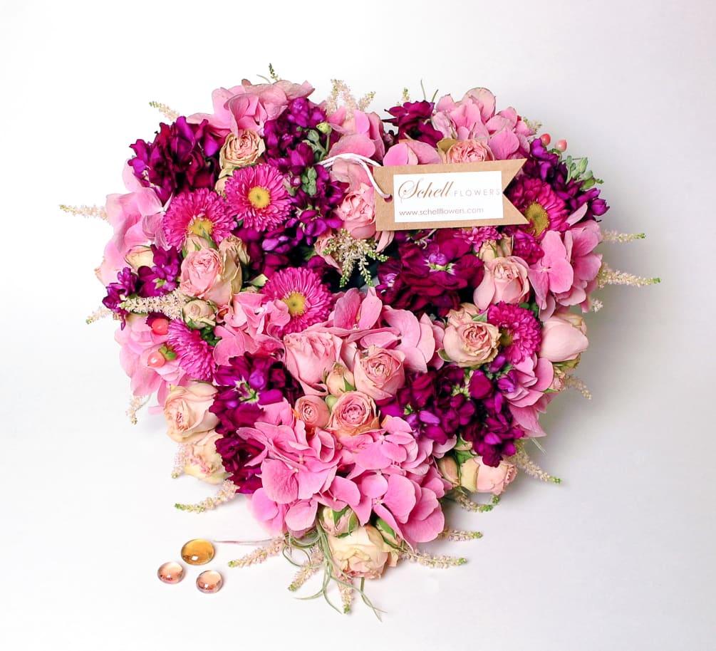 venus heart shaped flower