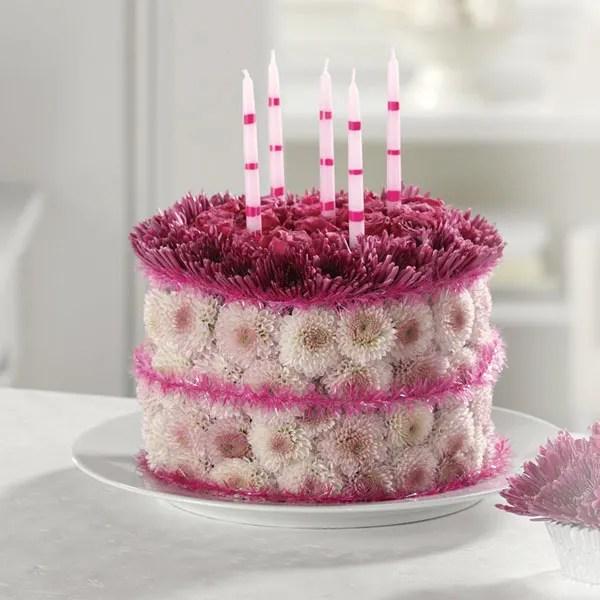 Blooming Birthday Cake In Santee Ca Christines Floral Designs