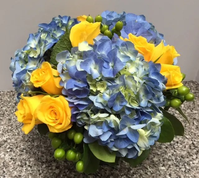hydrangea and roses in