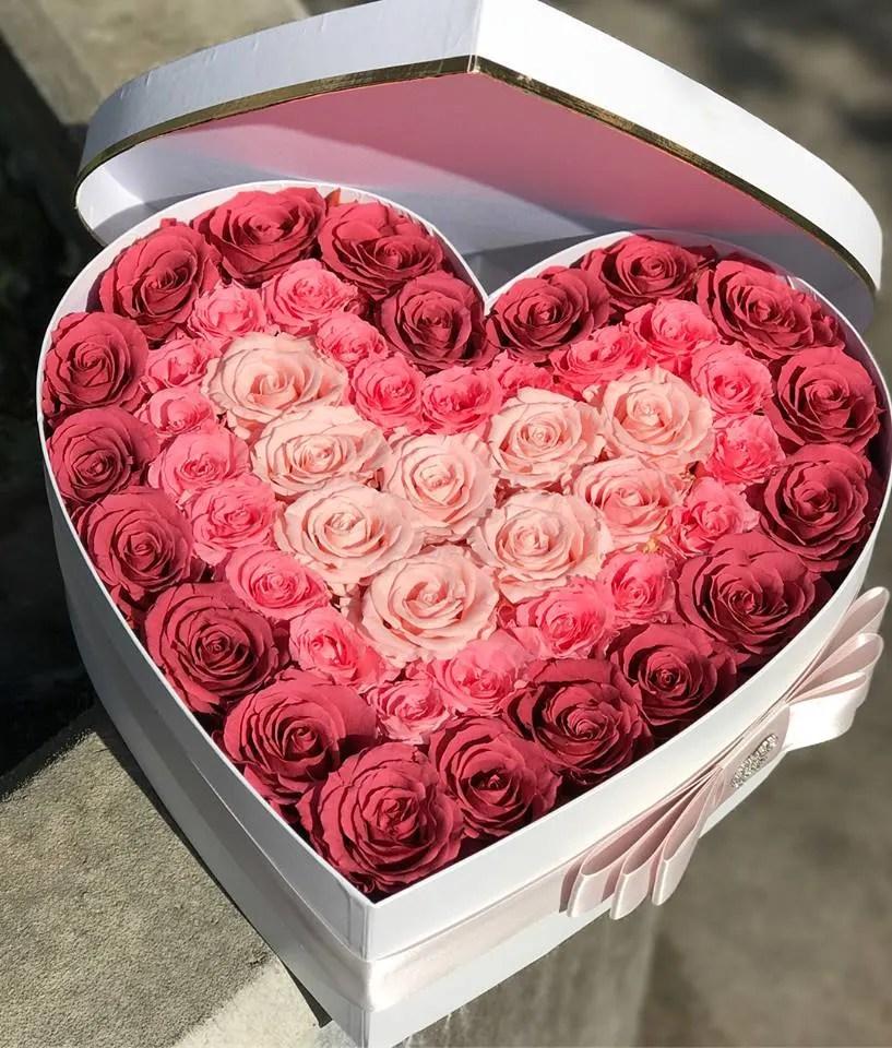 eternal rose heart in