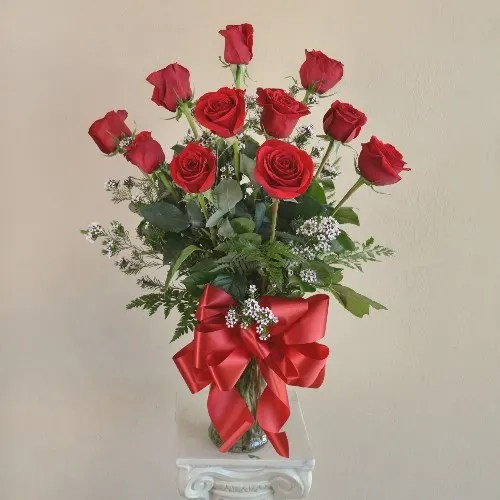 red rose romance in