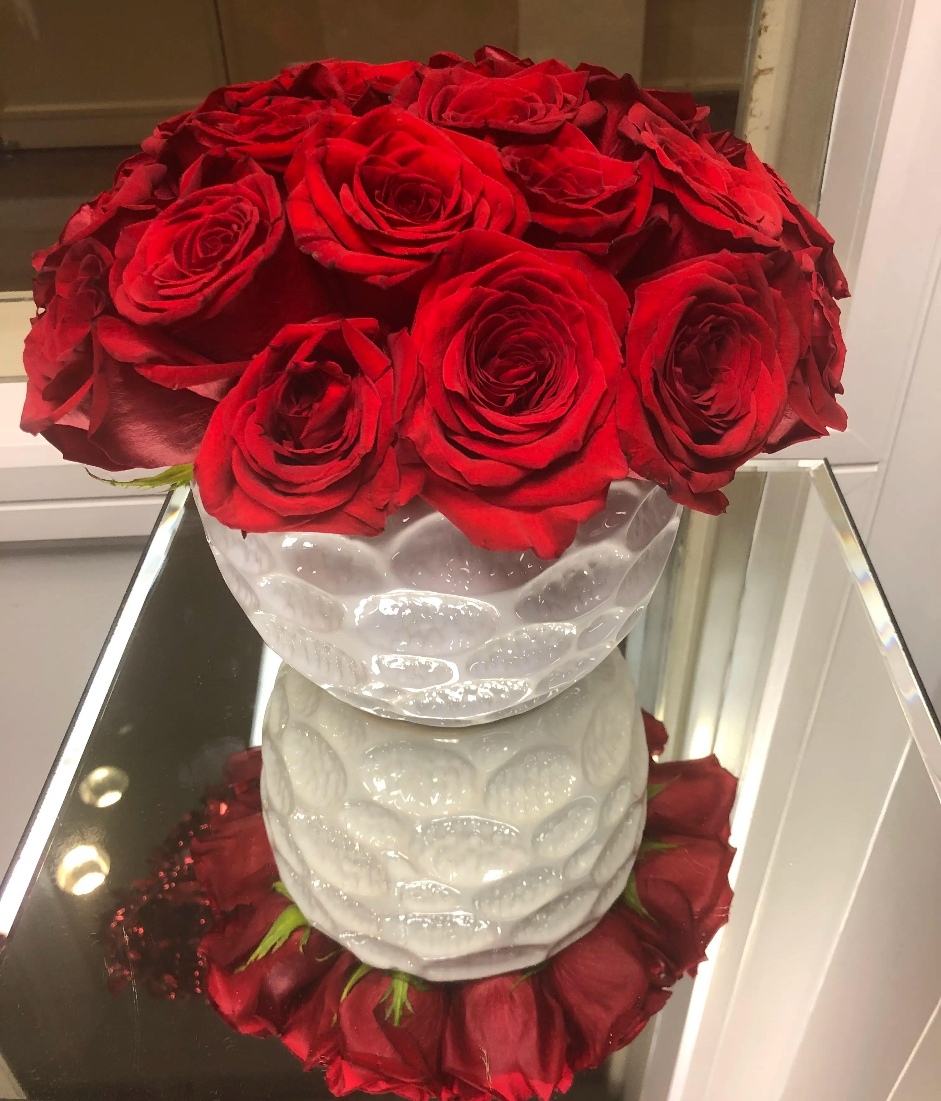 lovely red rose in