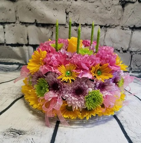 Happy Birthday Floral Cake By All In Bloom Florist
