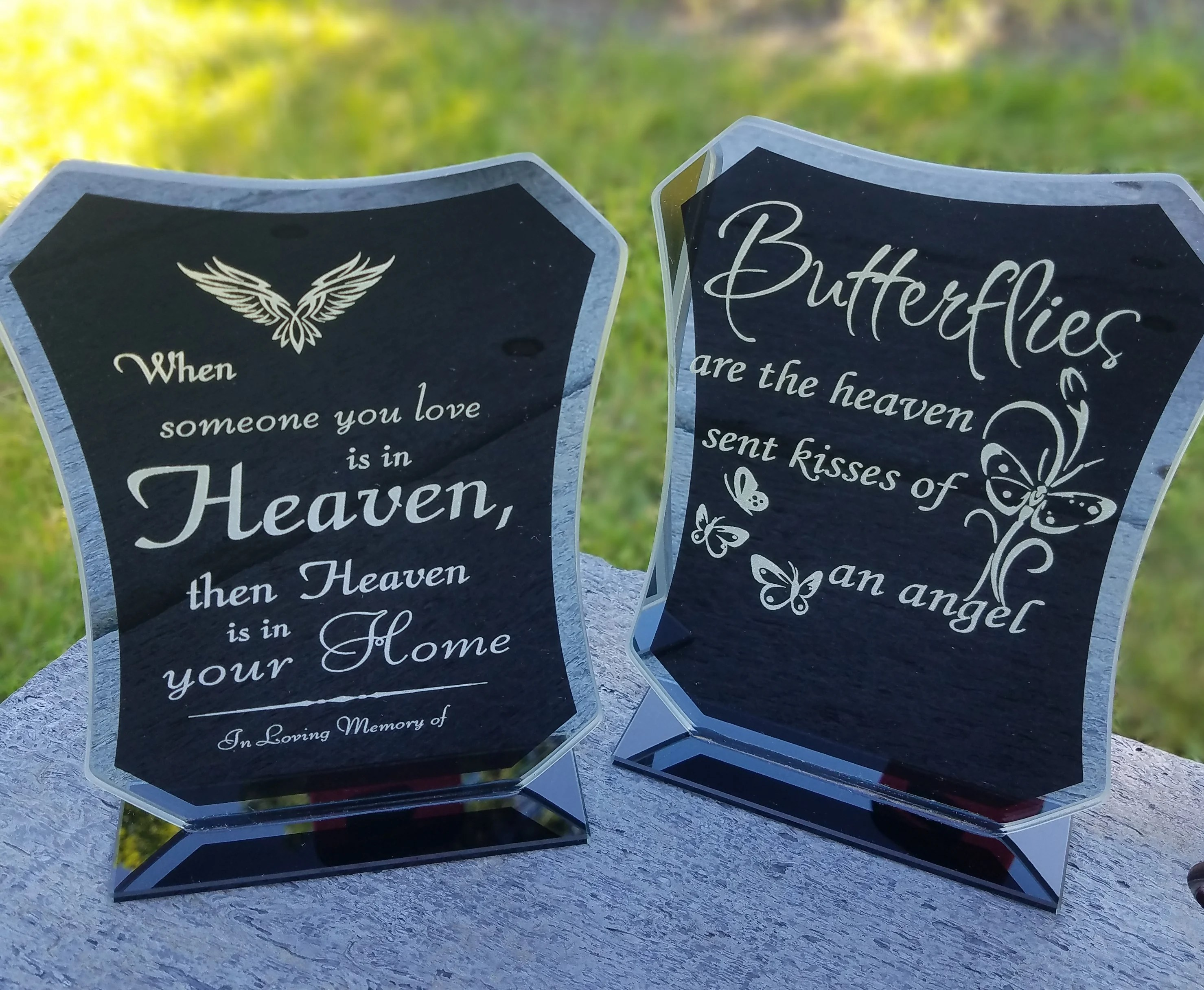 personalized glass plaque one