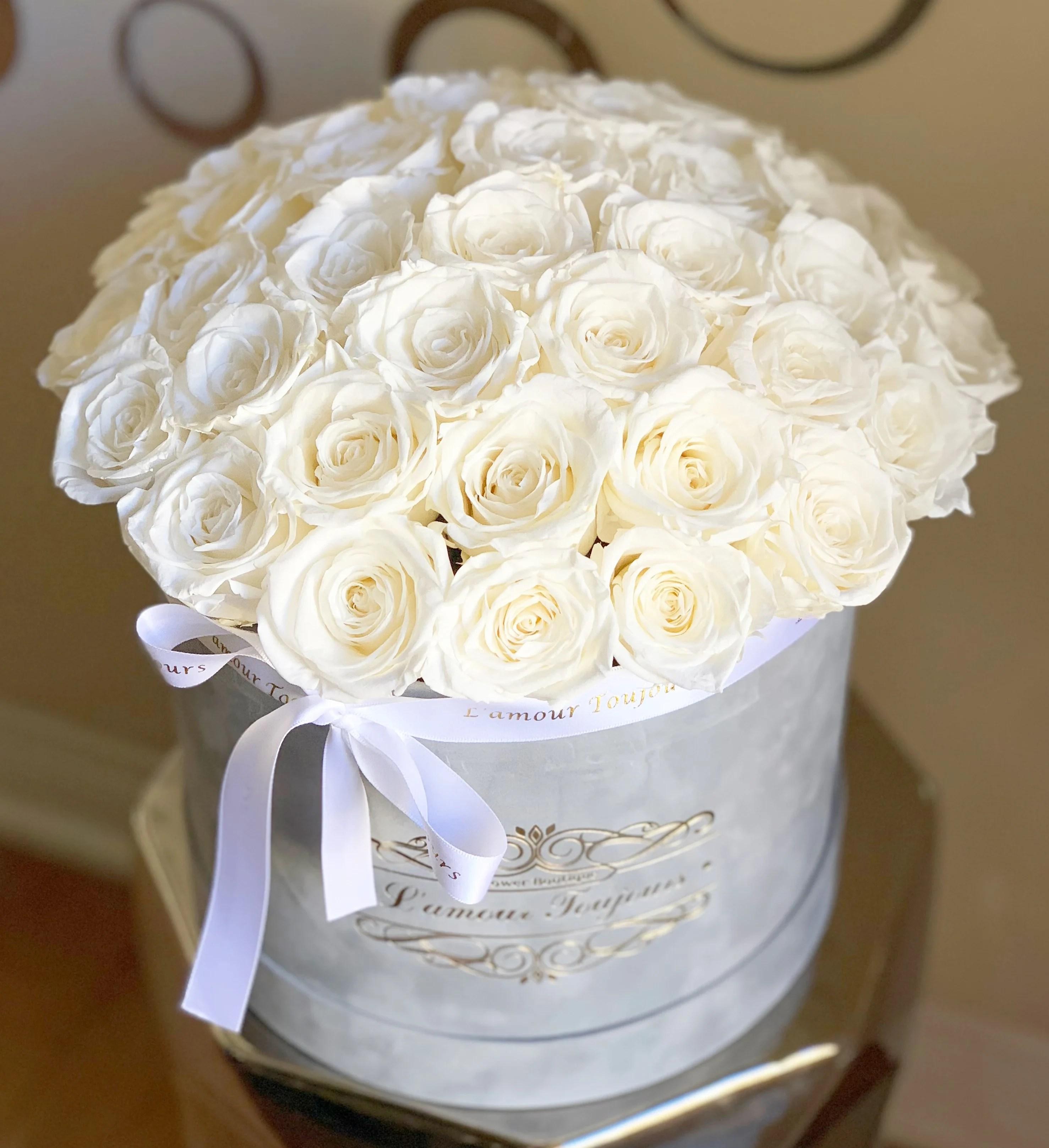 everlasting roses gray velvet