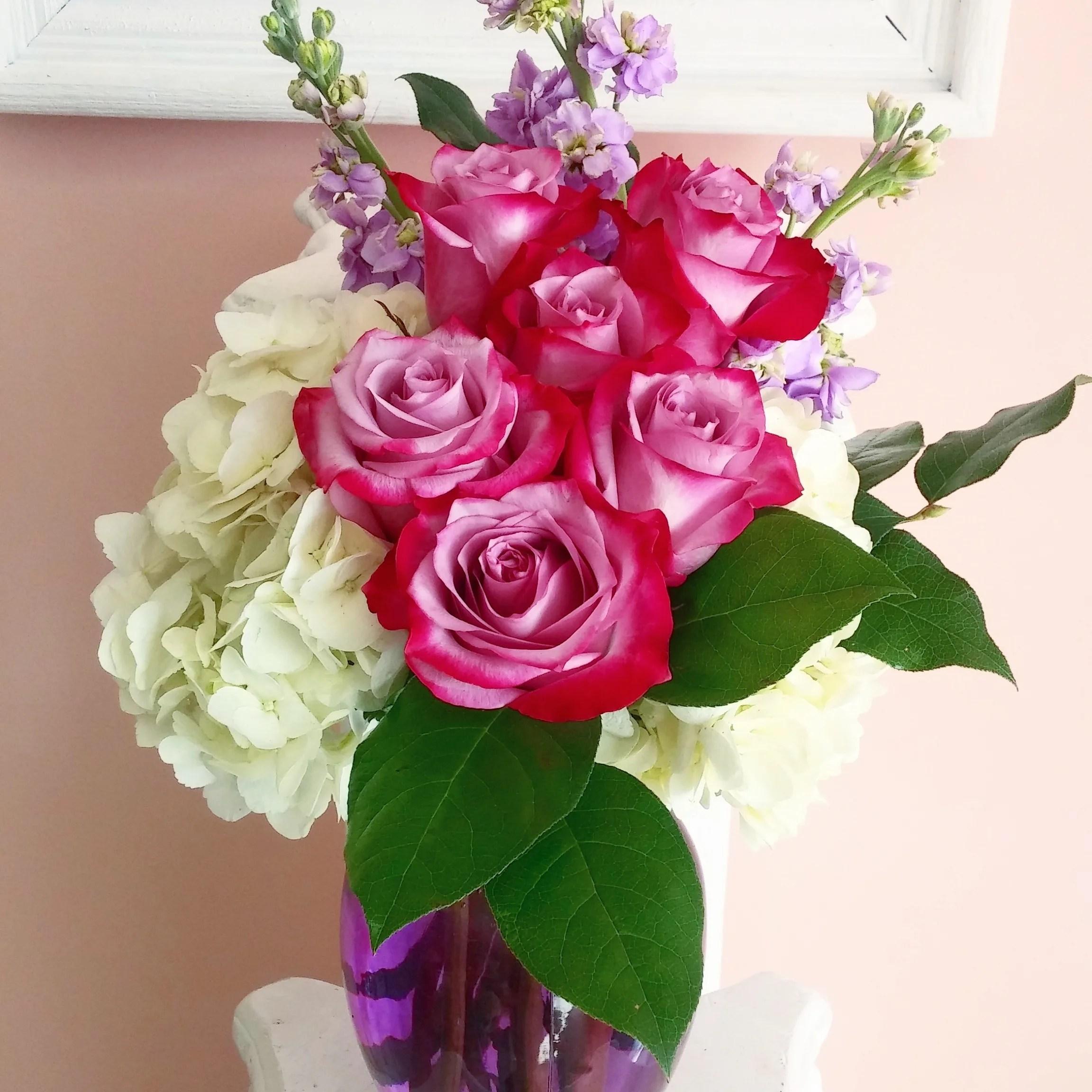 deep purple rose bouquet