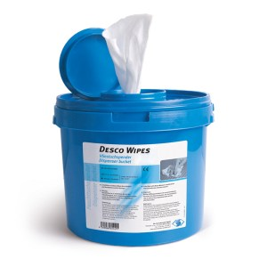 Desco Wipes, Disinfectant Wipe Dispenser, contents not included