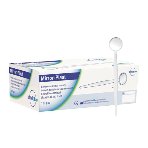 Disposable Dental Mirror, 100 pcs white