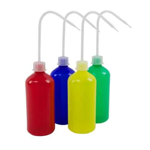 Colored Wash Bottles