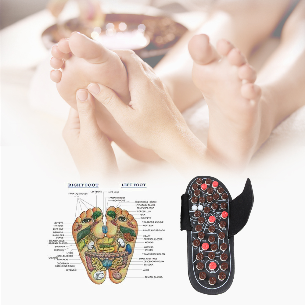 1 Pair Reflexology Sandals Foot Massager Slippers Acupressure Home Massage 2019