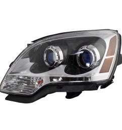 07 12 gmc acadia drivers halogen headlight assembly blue lens [ 1000 x 1000 Pixel ]