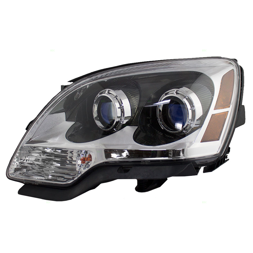 hight resolution of 07 12 gmc acadia drivers halogen headlight assembly blue lens