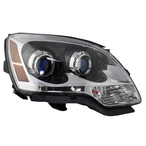 small resolution of 07 12 gmc acadia passengers halogen headlight assembly blue tinted lens