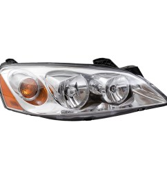 05 10 pontiac g6 new pair set headlight headlamp lens housing assembly dot [ 1000 x 1000 Pixel ]