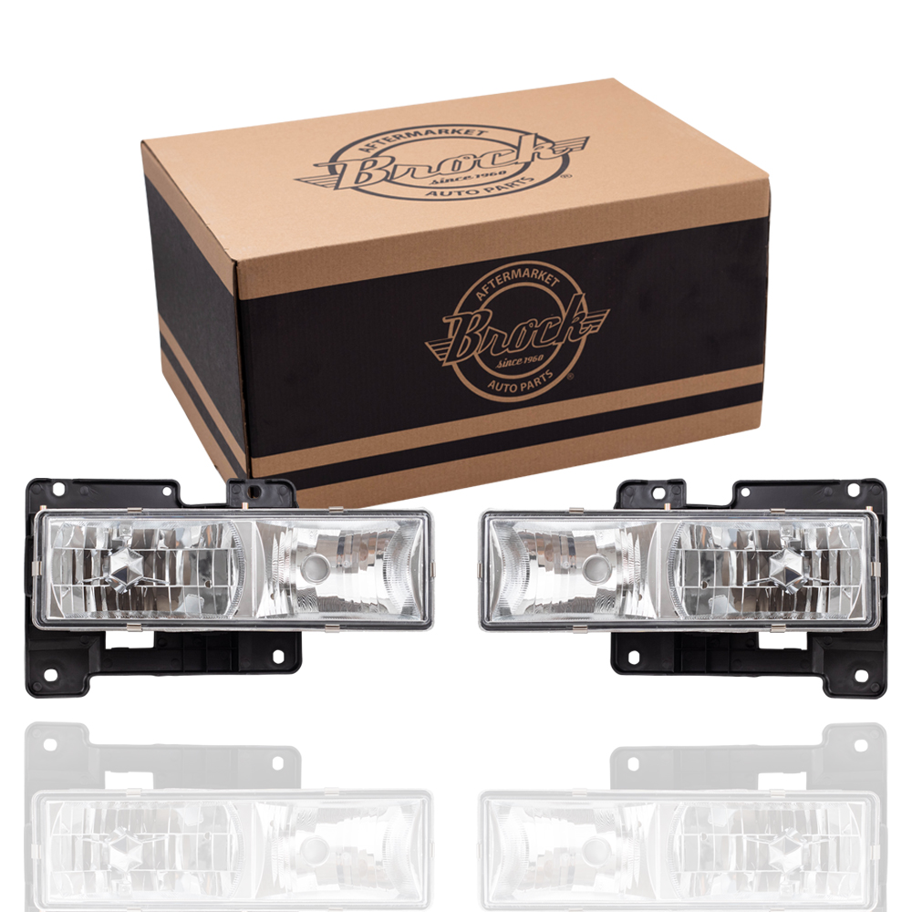hight resolution of 88 99 gm pickup composite crystal clear performance headlamp set l r 92 99 gm suburban gmc yukon 92 94 chevrolet blazer 95 99 chevrolet tahoe 00 classic