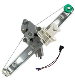 05 10 pontiac g6 drivers rear power window lift regulator with motor assembly everydayautoparts com [ 1000 x 1000 Pixel ]