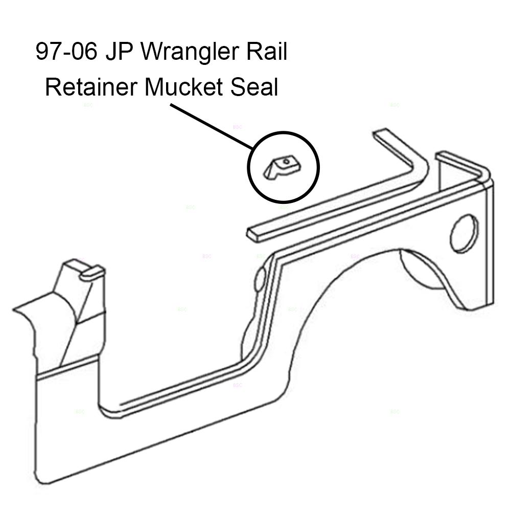 97-06 Jeep Wrangler Drivers Side Panel Rear Corner