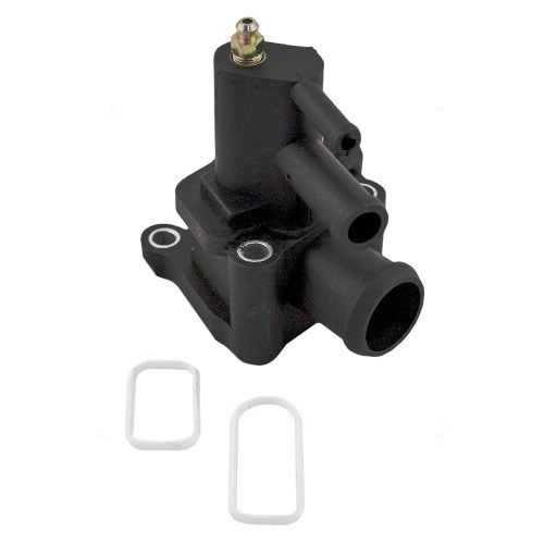 small resolution of 01 06 chrysler sebring dodge stratus thermostat housing water outlet engine coolant air bleeder w