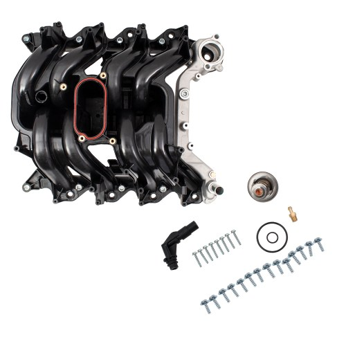 small resolution of picture of 00 14 fd e series 5 4l intake manifold w thermostat