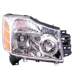 04 07 nissan armada titan pickup truck passengers headlight assembly everydayautoparts com [ 1000 x 1000 Pixel ]