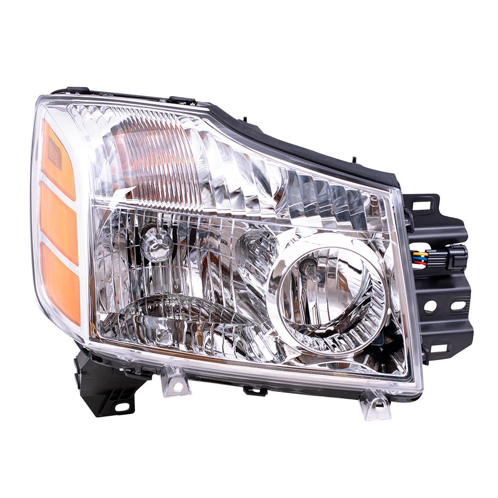 medium resolution of 04 07 nissan armada titan pickup truck passengers headlight assembly everydayautoparts com