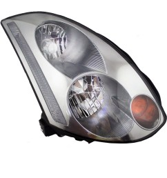 brock supply 03 05 in g35 coupe hid combination headlamp assy rh w o hid kit [ 1000 x 1000 Pixel ]