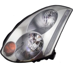 brock supply 03 05 in g35 coupe hid combination headlamp assy lh w o hid kit [ 1000 x 1000 Pixel ]