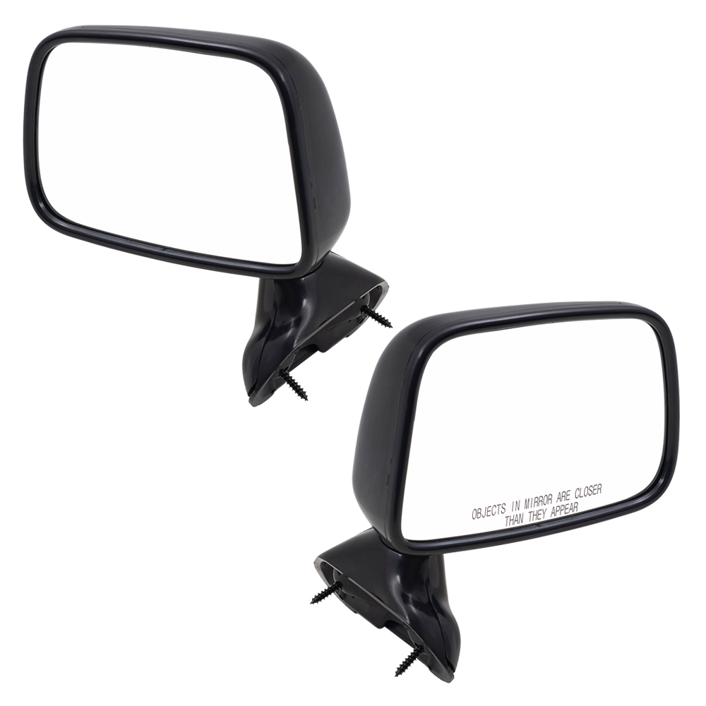 medium resolution of 89 95 toyota pickup truck with vent window set of side view manual mirrors door skin mounted everydayautoparts com
