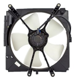 93 97 toyota corolla geo prizm radiator cooling fan motor assembly  [ 1000 x 1000 Pixel ]