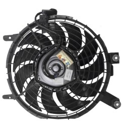 96 97 geo prizm toyota corolla ac a c condenser cooling fan motor assembly  [ 1000 x 1000 Pixel ]