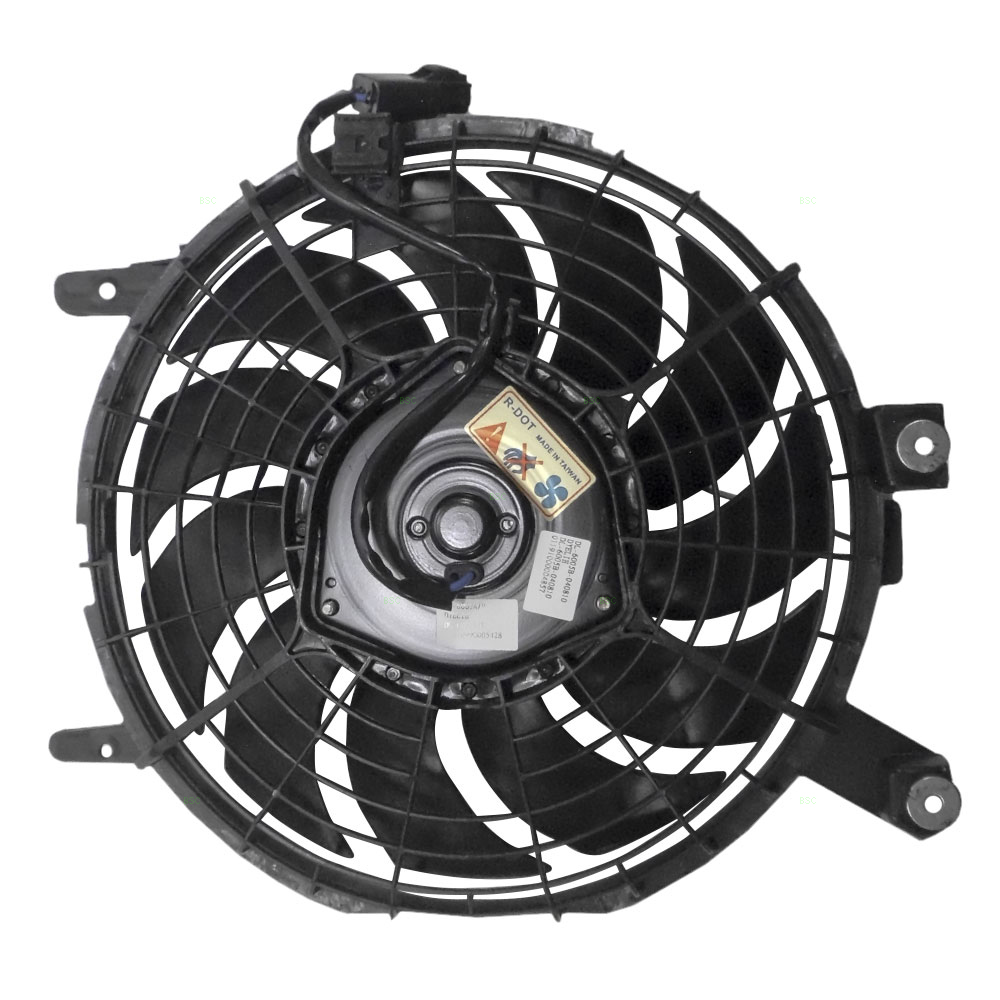 hight resolution of  96 97 geo prizm toyota corolla ac a c condenser cooling fan motor assembly