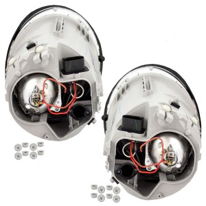 AutoandArt  0204 Volkswagen VW Beetle Turbo S New Pair Set Halogen Headlight Headlamp Lens