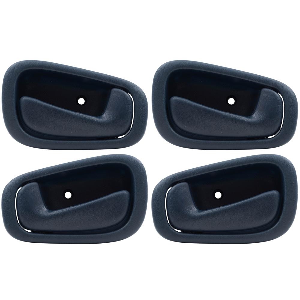 hight resolution of 98 02 chevrolet prizm toyota corolla 4 pc set of blue inside interior door handles everydayautoparts com