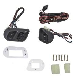 universal 2 door models joker style electric power window roll up manual switch kit bezels  [ 1000 x 1000 Pixel ]