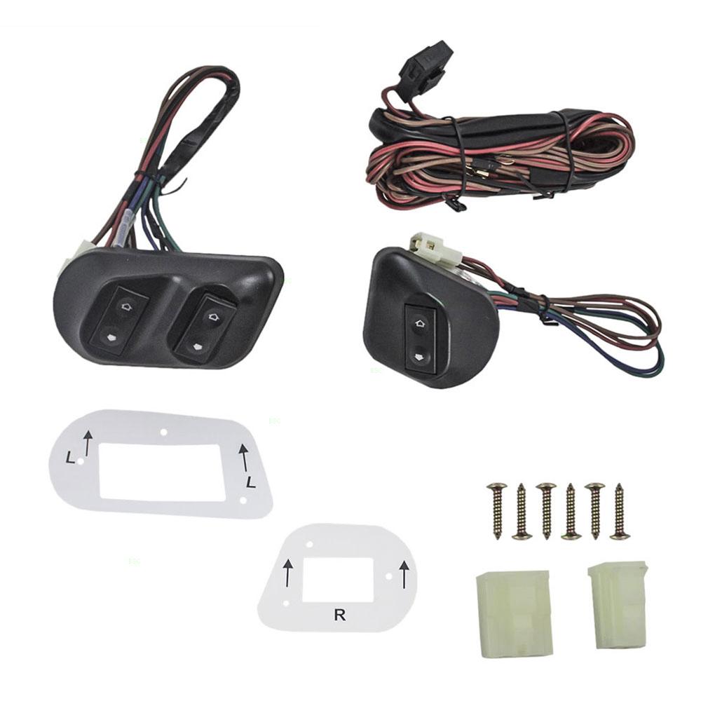 medium resolution of universal 2 door models joker style electric power window roll up manual switch kit bezels