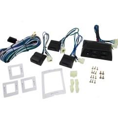 universal 4 door pickup truck suv van car flat design power window switch kit w  [ 1000 x 1000 Pixel ]